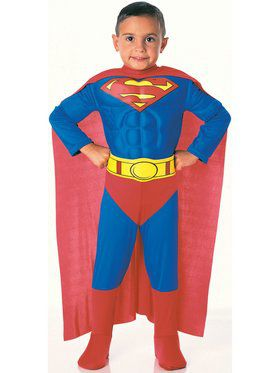 Deluxe Muscle Chest Superman Toddler Cos