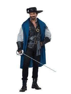 Deluxe Musketeer Men's Costume