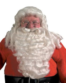 Deluxe Pro Santa Full Wig And Beard Set