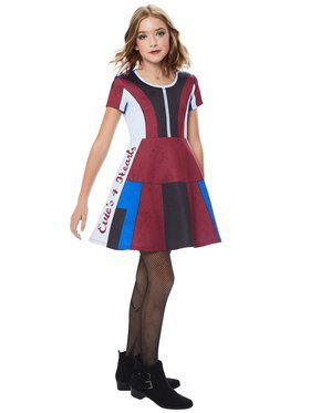 Evie Girl's Descendants Dress Costume
