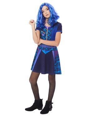 Mal Girl's Descendants Dress Costume
