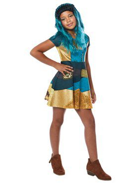 Uma Girl's Descendants Dress Costume