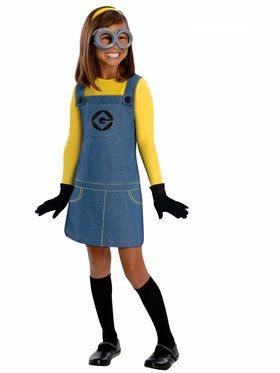 Girls Female Minion Costume