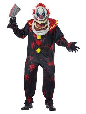 Adult Big Mouth Die Laughing Clown Costume