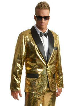 Disco Ball Tuxedo Jacket - Gold