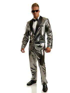 Disco Ball Tuxedo Set w/Pants - Silver