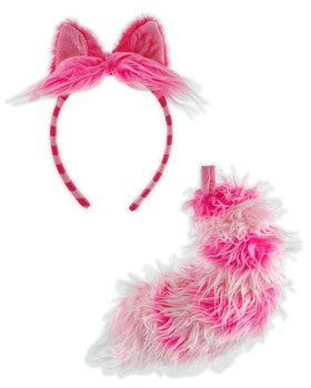 Chesire Cat Ears and Tail Disney Costume