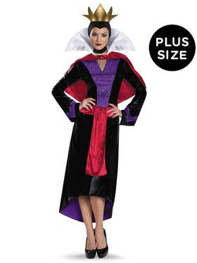 Plus Size Deluxe Womens Evil Queen Disney Costume