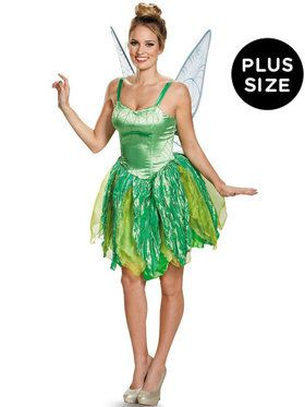 Disney Fairies Womens Plus Size Tinker Bell Prestige Costume