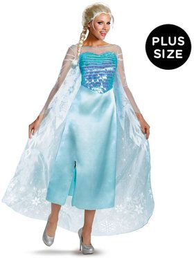 Disney Frozen - Plus Size Deluxe Elsa Dress Plus (18-20)