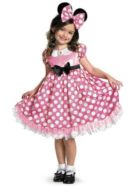 Toddler Glow in the Dark Pink Minnie Mouse Costume