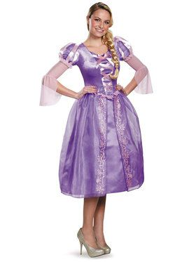 Disney Princess Deluxe Womens Rapunzel Costume