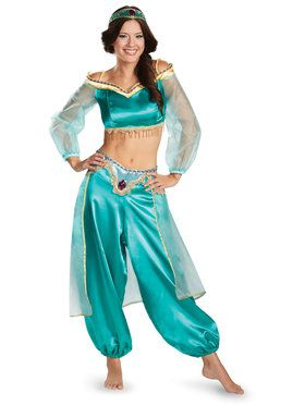 Disney Princess Jasmine Prestige Fab Costume For Women Large (12-14)