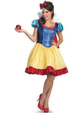 Womens Plus Size Deluxe Snow White Fab Costume