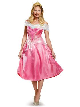 Deluxe Womens Disney Princess Aurora Costume