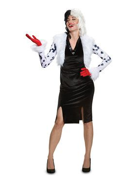 Adult Deluxe Cruella De Vil Disney Villains Costume