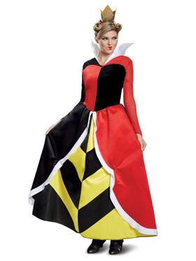 Adult Deluxe Queen of Hearts Disney Villains Costume