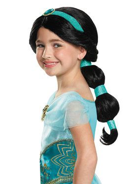 Girls Disney Aladdin Jasmine Wig