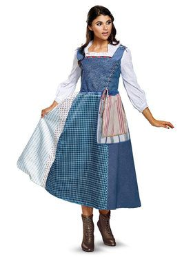 Womens Deluxe Village Belle Beauty and the Beast Costume