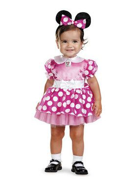 Disneys Infant Pink Minnie Mouse Costume