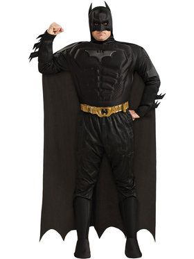 Deluxe Dark Knight Plus Muscle Chest Batman Costume
