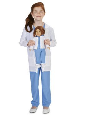 "Doctor Child Costume M (8-10) with Matching 18"" Doll Costume 8-10 w/ 18"" doll costume"