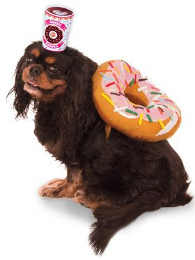 Donut and Coffee Pet Costume Small