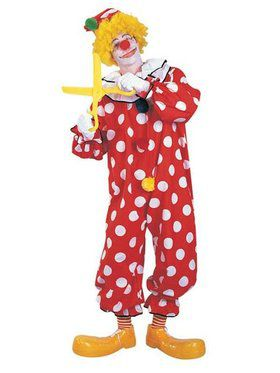 Dots The Clown Adult Costume