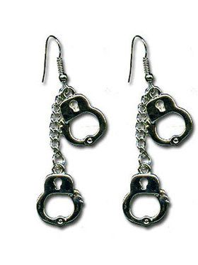 Double Handcuff Dangle Earrings