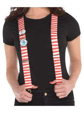 Dr. Seuss Adult Cat in the Hat Suspenders