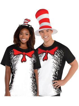 Dr. Seuss Adult Cat in the Hat T-shirt