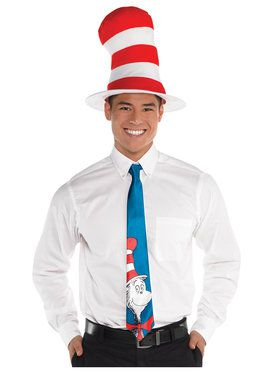 Dr. Seuss Cat in the Hat Necktie