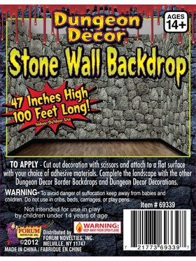 Stone Dungeon Wall Backdrop