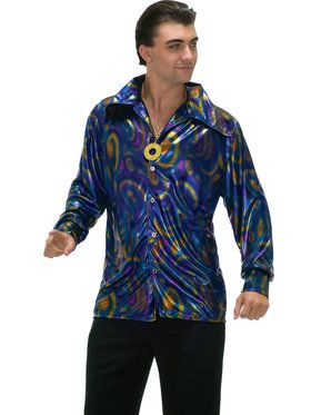 Dynamite Dude Disco Shirt Men's Costume