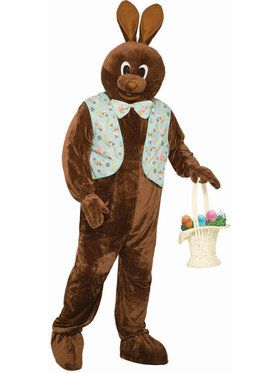 Easter Bunny Mascot Vest and Bow Tie Set