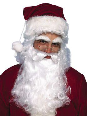 Economy Santa Wig And Beard Set