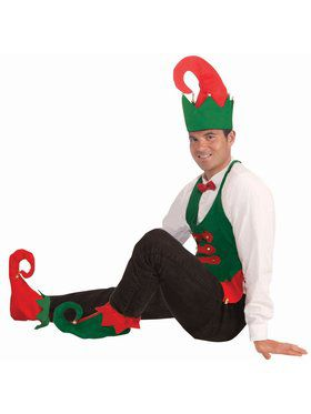 Elf Hat And Shoe Covers Set