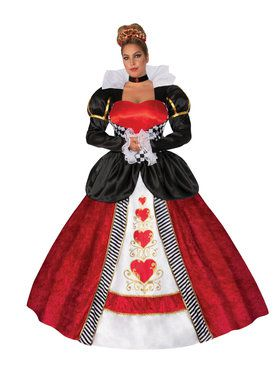 Curvy Queen of Hearts Super Deluxe Womens Costume