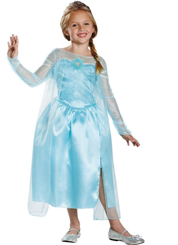Girls Elsa Costume