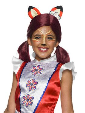 Girls Enchantimals Felicity Fox Wig with Ears