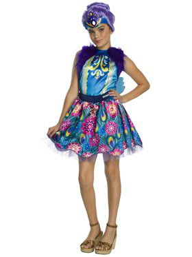 Girl's Enchantimals Patter Peacock Costume