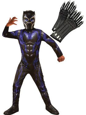 Endgame Black Panther Purple Child Costume Kit