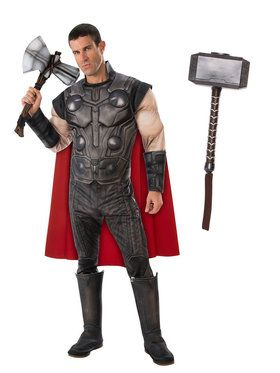 Endgame Thor Adult Costume Kit with Mjolnir Hammer