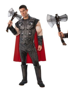 Endgame Thor Adult Costume Kit with Stormbreaker Hammer