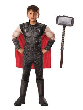 Endgame Thor Child Costume Kit with Mjonir Hammer