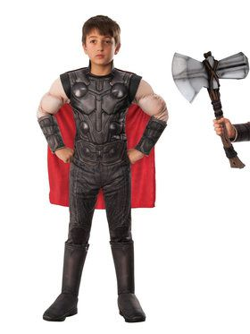 Endgame Thor Child Costume Kit with Stormbreaker Hammer