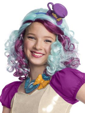 Ever After High Madeline Hatter Wig with Headpiece