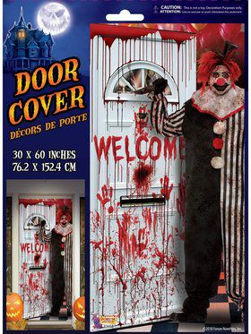Evil Clown Door Cover