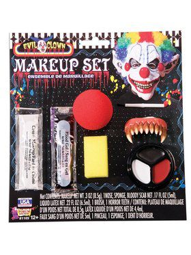 Evil Clown Kit Makeup