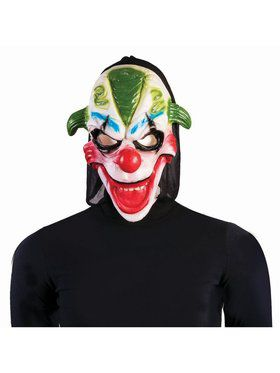Evil Clown Mask - Green Hair